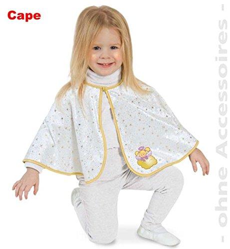 narrenwelt Engel Cape 86 Kleinkind Engelchen Umhang mit Goldsternen und Motivbild - Pannesamt