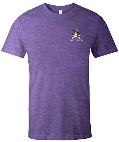 NCAA East Carolina Piraten Kurzarm-T-Shirt für Erwachsene, NCAA, kurzärmlig, Trimix, Größe XL, Violett (Carolina-shirt East)