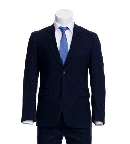 AZZURINO Sakko Easy Comfort in Marine, praktische Details, Gr. 50 (Einreiher Pattentasche Anzug)