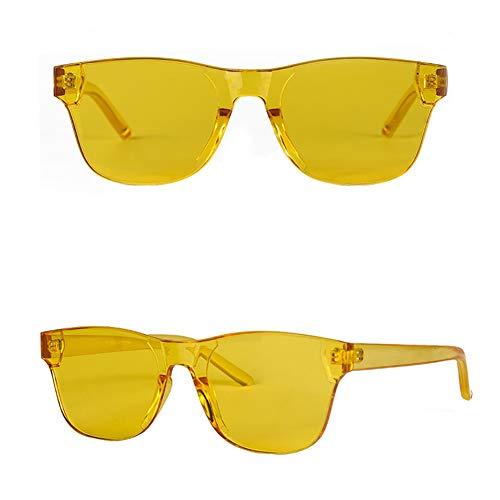 4baabb9d02 MMCP Gafas de Sol sin Montura, una Sola Pieza Colores del Caramelo Gafas de  Sol