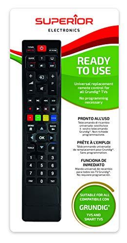 Superior Electronics Universalfernbedienung für Grundig Smart, schwarz