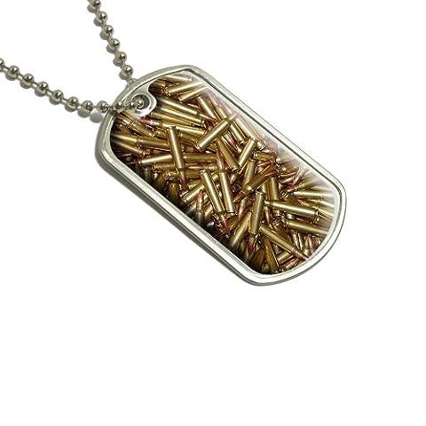 Balles–Rifle Gun Arme Militaire Dog Tag bagages Porte-clés