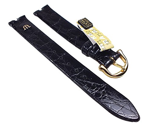 maurice-lacroix-damen-ersatzband-uhrenarmband-kroko-leder-band-ohne-naht-schwarz-13mm-23684g