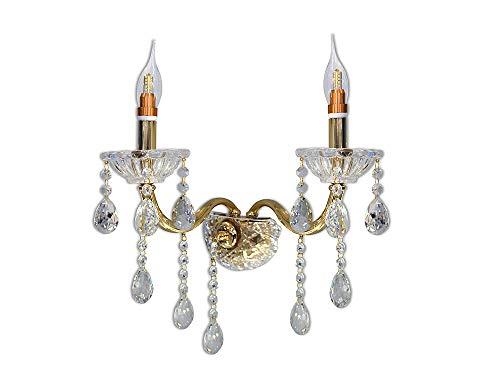 Vetrineinrete applique candelabro lampada da parete con gocce