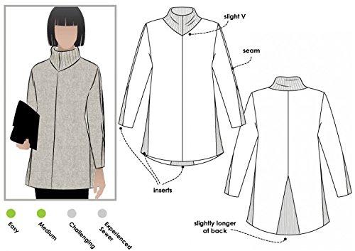 Stil Arc Damen Schnittmuster Mavis Knit Tunika Top