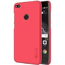 Funda Huawei P8 Lite 2017, Carcasa para Huawei P8 Lite, NILLKIN® Protector Carcasas para Huawei P8 Lite, Funda Gel de Silicona Carcasa Fibra de Carbono, Funda para Huawei P8 Lite 2017, Color Rojo