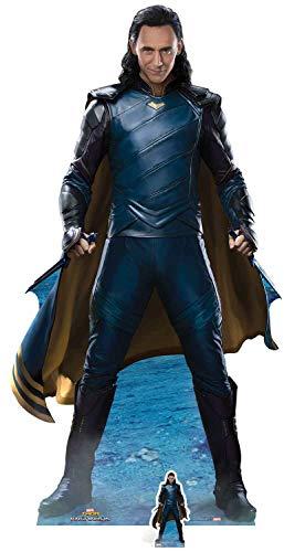 Star Cutouts Offizieller Marvel Loki (Tom Hiddelston), lebensgroßer Kartonaufsteller (Pappe Ausschnitte Promi)