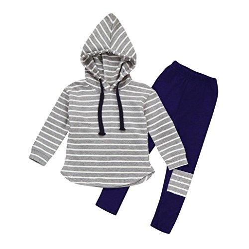 Jungenkleidung, Sonnena 2pcs Baby Kleikind Junge Kurzarm Krawatte T-Shirt Hemd+ Kurz Bib Hose Pants Outfit Set Tägliche Baumwolle Bekleidungssets Sommerkleidung Set Kindermode (6 Jahre, Grau 3)