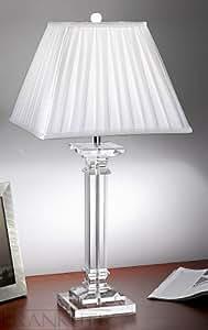 Lampe Hugo 65,5 cm en cristal et soie