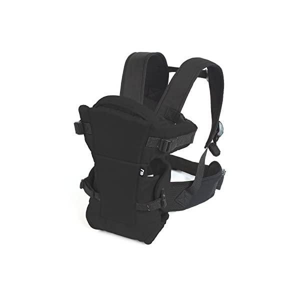 Mothercare Three Position Baby Carrier (Black) Mothercare Suitable from birth to a maximum weight of 12 kg 3-position carrier: front position facing in from birth, front position facing out from 3 months, from 6 months it can be worn on the back Removable Cushioned insert to provide added support and comfort for newborns 1
