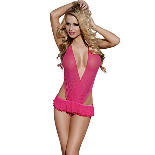 Lingerie Frauen ' S Clothing Perspektive Sexy Nightdress Ladies Erotic Clothing Couple Temptation Kleidung,Pink ()