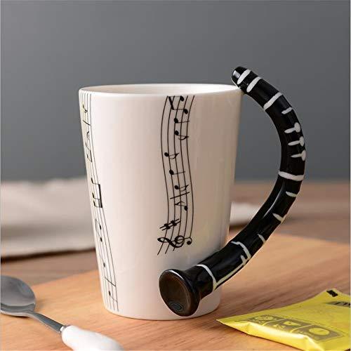 Becher E-Gitarre Musikinstrument Tasse kreative Kaffeetasse Emaille Becher Farbe Boxed Klarinette fünf Linie ()