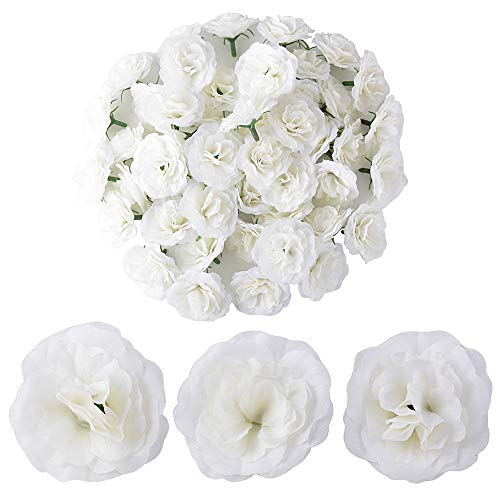 BUONDAC 50pcs Cabezas Rosa Flores Rosa Artificiales