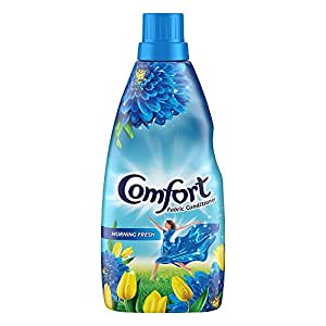 Comfort After Wash Morning Fresh Fabric Conditioner (Fabric Softener) - For Softness, Shine And Long Lasting Freshness, 860 ml