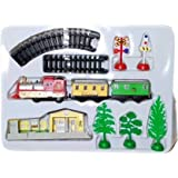CIERN Present Classic Train Track Play Track Set with Light & Sound (Multicolor) with Station Toy