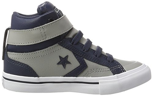 Converse  Pro Blaze, Chaussons montants mixte enfant Mehrfarbig (Dolphin/Athletic Navy/White)