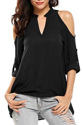 Donna Camicie Maniche Lunghe Lunga Camicia Monopetto