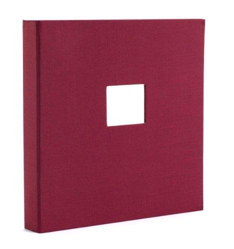 Semikolon Foto- & Gästebuch 17-Ring mit Buchleineneinband burgundy (dunkel-rot) | Foto-Album oder Gästebuch für 40-50 Blatt | Zum selber gestalten | Fotokarton nicht enthalten (17 Mit Erweiterbar)