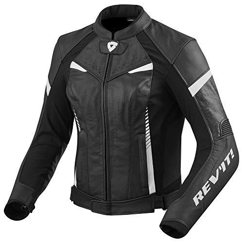 Revit XENA 2 Damen Motorrad Lederjacke Sport - schwarz weiss