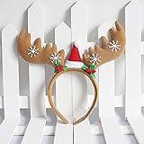 Gaddrt Weihnachten Haarband Bogen Stirnband Tiara Party Dekorationen Snow Head Hoop Haarbänder (C)