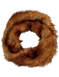 Women's Luxury Faux Fox Fur Snood Infinity Scarf