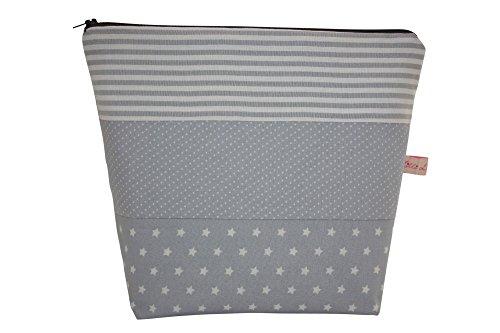 Lilli Löwenherz Sac de culture extra large sac à langer avec poche intérieure ornée Ted Grey dans Stars, Stripes and Dots \\