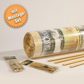 Videx-Sichtschutzmatte Rügen, bambus, 25 Schlaufen, 2m U-Profil, 180 x 200cm