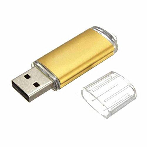 Tonsee Mini 16GB USB 2.0 Metall Flash Speicher Stick Daumen U Speicherplatte,Gold