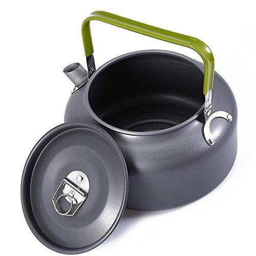 ETGtek(TM) Outdoor-Kessel Camping Kochgeschirr Wasserbecher Tee-Kessel mit Tasche Reisen Wandern Kochen Werkzeug -0.8l