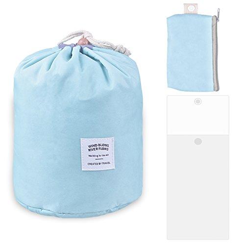 Rancco® Kit de voyage Organisateur Salle de bains de rangement sac de cosmétiques, cordon portatif Compartiment de toilette Carry Pouch Case Storage Maquillage Cosmétiques Kit Box / sac de lavage avec accrochage Crochet(Vert)