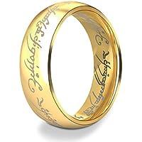 393639eb82585 Dalaran Anneaux en acier inoxydable pour hommes femmes les seigneurs des  anneaux argent noir