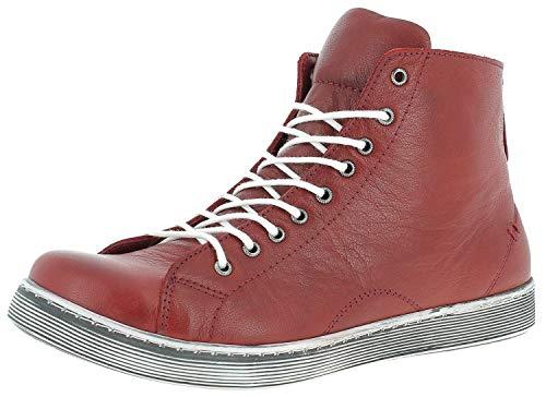 Damen Boot-tops (Andrea Conti Damen 0341500 Hohe Sneaker Rot (Chili 583) 39 EU)