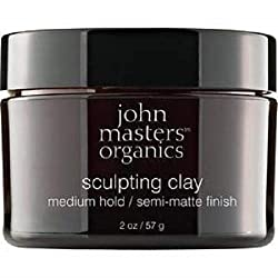 John Masters Organics Sculpting Clay Medium Hold Semi Matte Finish, 1er Pack (1 x 57 g)
