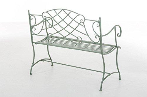 CLP Nostalige Metall-Gartenbank SELENA im Landhausstil, aus lackiertem Eisen, 109 x 43 cm – aus bis zu 6 Farben wählen Antik Grün - 3