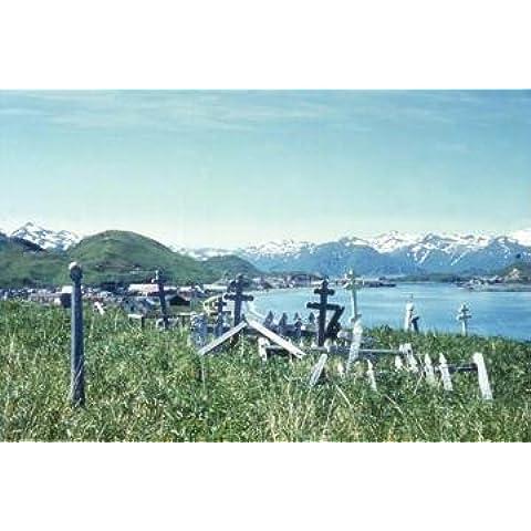 Buyenlarge 19724-2P2030 el cementerio ortodoxa rusa en 20 x 30 cartel Unalaska