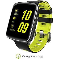 """Huang Dog-shop Kingwear GV68 3G SmartWatch - Inteligente Reloj Teléfono 1.54"""" TFT Pantalla Táctil MTK2502C Soporte SIM Tarjeta con Corazón Tasa Llamada Notificación Podómetro Alarma Monitor De Sueño"""