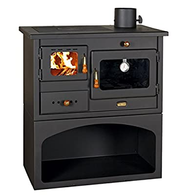 Wood Burning Cast Iron Top Solid Fuel Cooking Stove Fireplace with Oven 10 kw