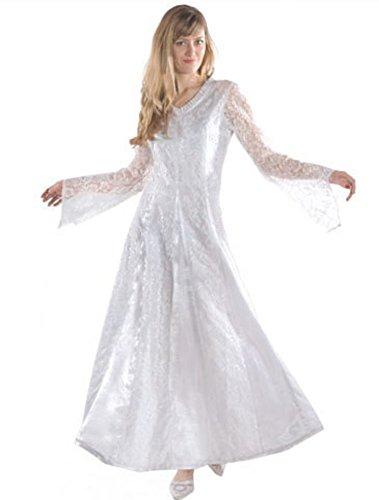 Bäres Steampunk - Damen Langes Gothic Kleid Arlene Rot