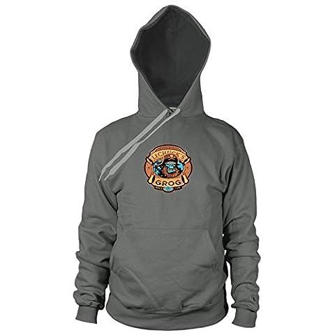 LeChuck's Grog - Herren Hooded Sweater, Größe: M, Farbe: grau