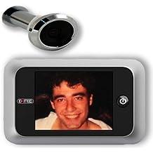 Exitec - Mirilla digital de puerta (135 x 85 x 24,5 mm), color plateado