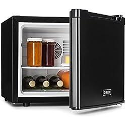 Klarstein Manhattan • Minibar • Mini-réfrigérateur • Réfrigérateur à boissons • A • 35 Litres • env. 45 x 39 x 52,5 cm (LxHxP) • Faible bruit de fonctionnement • 3 niveaux de température • Noir
