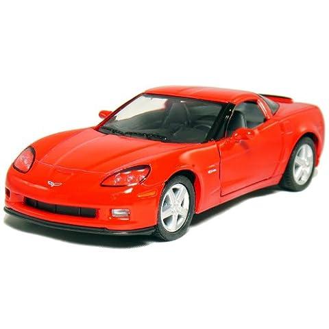 2007 Corvette C6 Z06 Red Diecast Model Car 1:36 Die Cast Collectible
