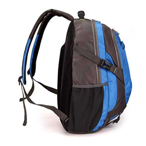 Baymate Wasserdicht Wanderrucksäcke Leichtgewicht Draussen Reisen Rucksäcke Mit Notebook Compartment College Rucksack Blau