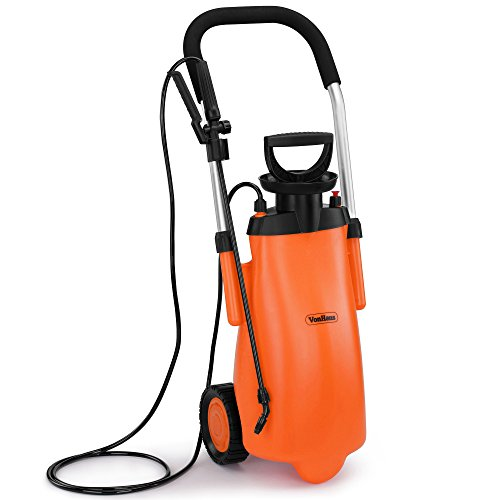 vonhaus-12l-pressure-sprayer-on-wheels-portable-garden-hose-sprayer-for-watering-fertilising-pest-co