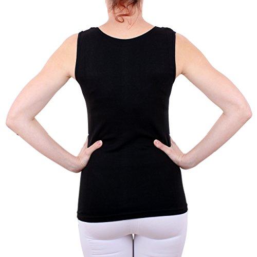 Damen Hemd mit Spitze (Shirt, Top, Unterhemd) Nr. 57/2 ( Schwarz / 56/58 ) - 3