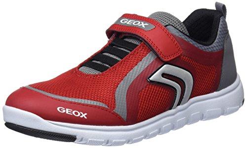 Geox J Xunday B, Zapatos deportivos para Niños, Rojo (Red/Grey), 35 E