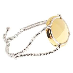 Bracelet torsadé rigide, capsule de champagne, muselet en argent 925 rhodié - Virginie Carpentier