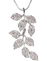 c75b210ed Indian Petals Designer Fancy Swarovski-Like Diamonds Rhinestone Studded  Leaf Design Fashion Jewellery Pendent with