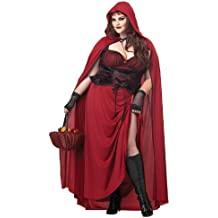 Dark Red Riding Hood Adult Costume Plus Size