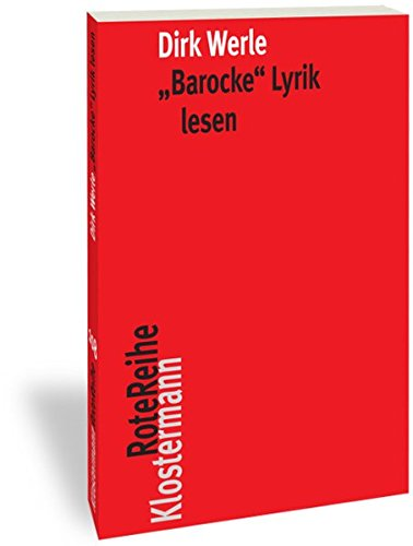 'Barocke' Lyrik lesen (Klostermann RoteReihe)